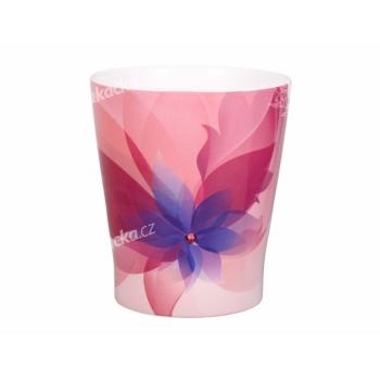 Obal na květník HOLLYWOOD FLORAL keramický růžový 13x15cm - VÝPRODEJ