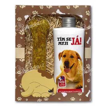 Dárkové balení pro psy - šampon + pamlsek s obrázkem labradora - VÝPRODEJ