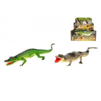 Krokodýl 36 cm pískací - mix barev