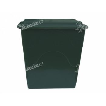 Barel s ventilem a víkem plastový zelený 240l