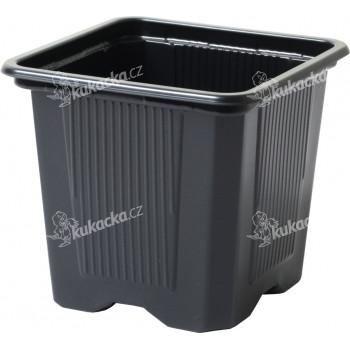 Květináč - kontejner, měkký plast 9x9x9,5(10) cm - 10 ks