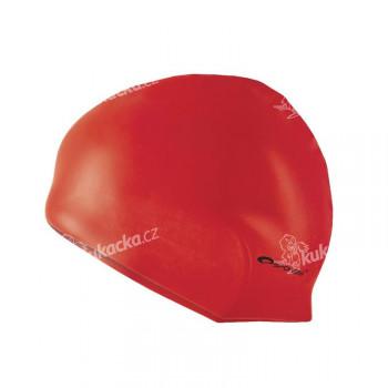 Spokey Summer plavecká čepice silikonová červená
