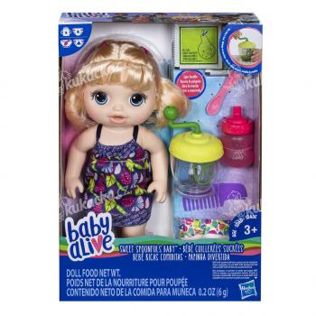 Hasbro Baby Alive Blonďatá panenka s mixérem - VÝPRODEJ