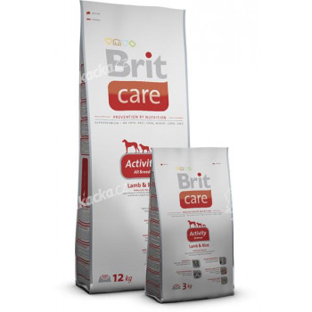 Brit Care Dog Activity All Breed Lamb & Rice 3 kg