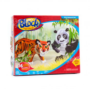 Pěnová 3D stavebnice - panda a tygr - VÝPRODEJ