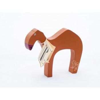 Dřevěný velbloud - hnědý, chráněná dílna Rolnička - VÝPRODEJ