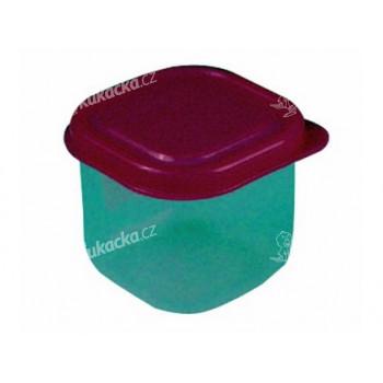 dóza čtvercová 0,15l plastová (6x6x6cm) - mix barev - VÝPRODEJ
