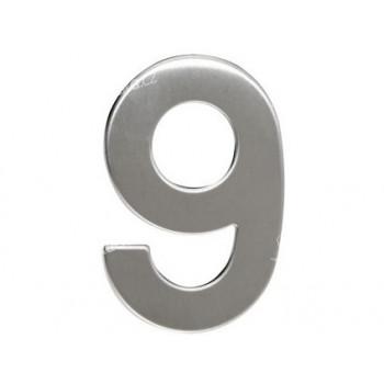 číslo domovní č.9 95mm nerez - VÝPRODEJ
