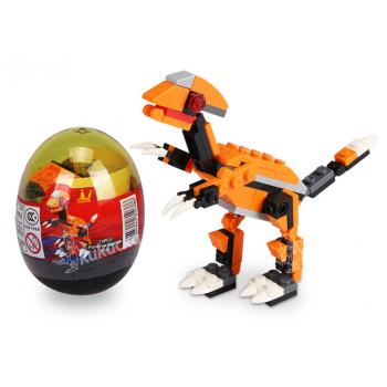 Stavebnice Wange – Dinosaur ve vejci (Parasaurolophus - oranžový)