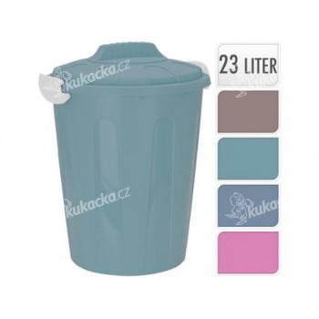 popelnice 23l plastová, K - mix barev - VÝPRODEJ