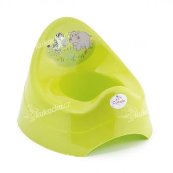 Dětský nočník s melodií, zoo, zelený, Cuculo - VÝPRODEJ