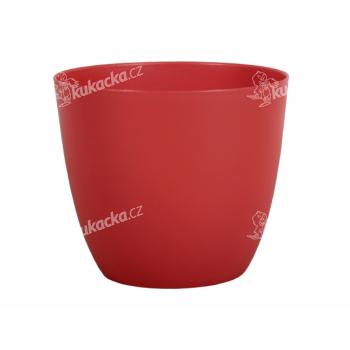 Obal na květník PATRICIE plastový červený d25x22cm - VÝPRODEJ