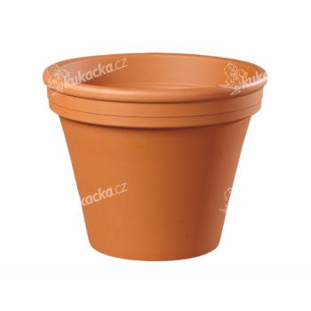 Květník KLASIK keramický terakota 18/20x21cm - VÝPRODEJ