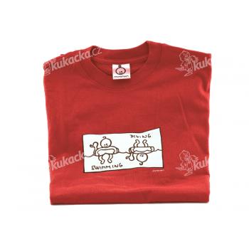 Dětské tričko Mayaka s dlouhým rukávem Swimming/Diving - červené Vhodné pro věk 6-12 měsíců - VÝPRODEJ