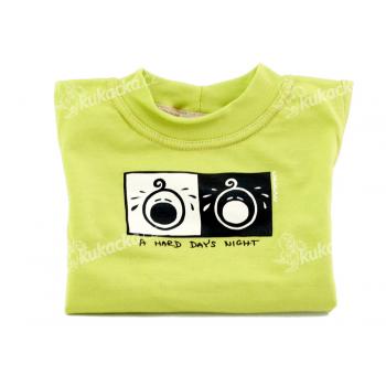 Dětské tričko Mayaka s dlouhým rukávem A Hard Day´s Night - zelené Vhodné pro věk 6-12 měsíců - VÝPRODEJ