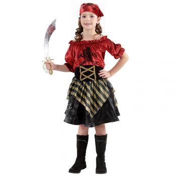 Kostým Pirátka,velikost 110-120 cm