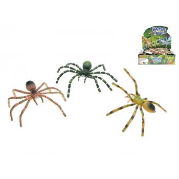 Pavouk plast pohyblivé nohy 7x16cm - mix barev