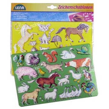 Lena Koně, kočky kreslící šablony