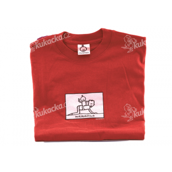 Dětské tričko Mayaka s dlouhým rukávem Horseriding - červené Vhodné pro věk 1-2 roky - VÝPRODEJ