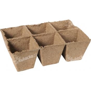 Rašelinový kontejner 8x8 cm - plato 6ks