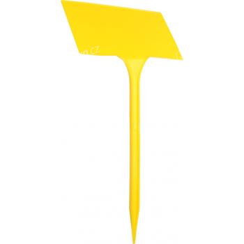 Jmenovka zapichovací SL 275 žlutá 27x13x8 cm lomená - 5 ks - VÝPRODEJ