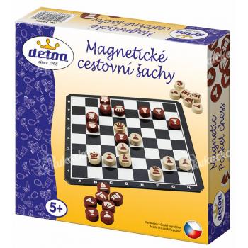Magnetické cestovní šachy dřevo společenská hra