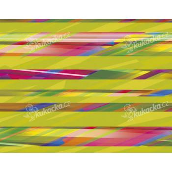 Balicí papír 100 x 70 cm 2 ks, BAREVNÉ PROUŽKY, DITIPO - VÝPRODEJ