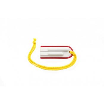 Píšťalka se šňůrkou červená sportovní plast 6cm - VÝPRODEJ