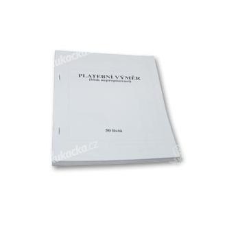 Tiskopis-Platební výměr nečíslovaný blok 50 listů