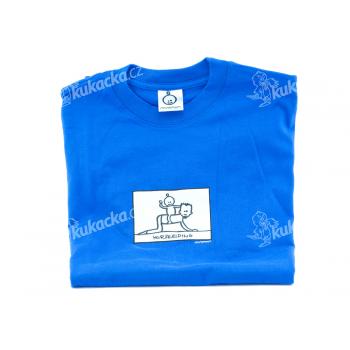 Pánské tričko Mayaka s krátkým rukávem Horseriding - modré Velikost S - VÝPRODEJ