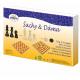 Šachy a dáma dřevo společenská hra_1