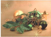 Dárková taška DXA vánoční zlatá - ozdoby - VÝPRODEJ