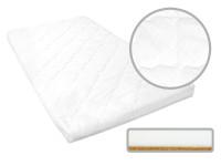 Dětská matrace 140x70x6 cm, kokos - molitan, bílá, Cuculo