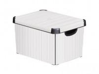 box úložný CLASSICO 40x30x23cm (L) s víkem, plastový