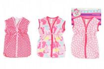 Taška/obleček na spaní látková pro miminko velikost +-30cm na kartě 25x38cm - mix barev - VÝPRODEJ