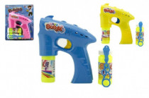 Bublifuk pistole plast 13cm + 2x náplň na baterie - mix barev