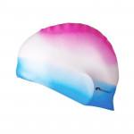 Spokey Abstract plavecká čepice silikonová růžovo-bílo-modrá