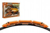 Dráha Vlak+koleje a doplňky plast 17ks na baterie se zvukem se světlem