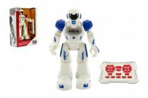 Robot chodící a tancující s ovladačem na baterie + USB kabel plast 25cm