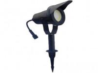 svítidlo LED 6,5W,520lm, MR20, IP67,3000K, teplé, Al ČER+stínítko, zapichovací