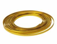 Drát dekorační hliníkový zlatý 10m 5mm