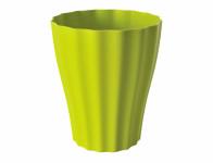 Obal na květník OLA ORCHID plast světle zelený d13x16cm