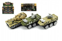 Tank/Auto vojenské/Obrněný transportér kov 7cm - mix variant či barev