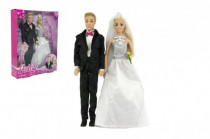 Panenka Anlily kloubová 2ks nevěsta a ženich plast 30cm