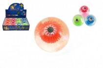 Míček/hopík oko svítící 7cm - mix variant či barev - VÝPRODEJ