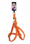 Postroj pes MAC LEATHER oranžová 20mm Zolux