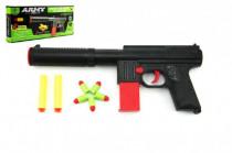 Pistole na pěnové náboje 2ks + špuntovka 5ks plast 30cm