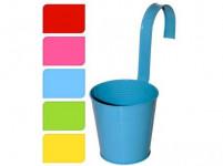 květináč dekorační 13,5cm závěsný plech - mix barev - VÝPRODEJ