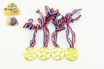 Medaile průměr 4cm 4ks plast