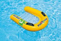 Plavací deska lehátko nafukovací s úchyty 79x76cm - VÝPRODEJ